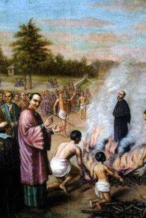 Martirio del Beato Bartolomé Gutiérrez.
