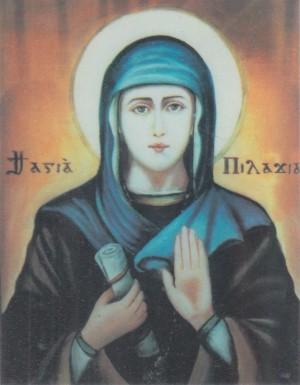 Icono ortodoxo griego de la Santa.