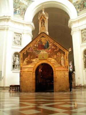 Capilla de la Porciúncula en el interior de la Basílica.