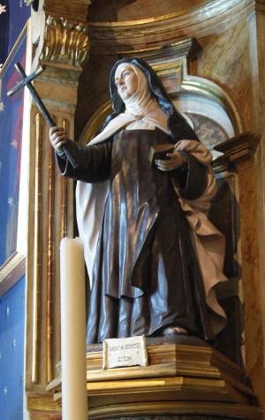 Escultura de la Santa en la catedral de Sevilla, España.