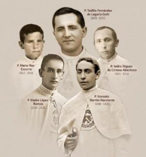 Composición con las fotografías de los mártires.