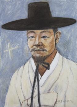 Ilustración del Beato Agustín Yu Hang-geom.