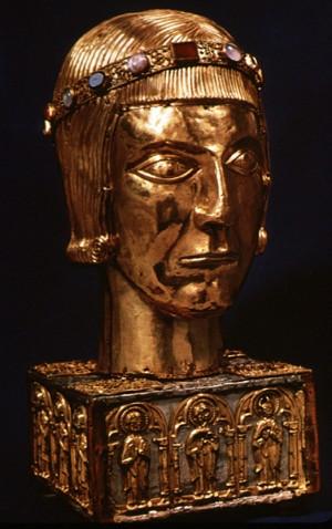 Relicario del presunto cráneo de San Eustaquio. Museo Británico de Londres (Reino Unido).