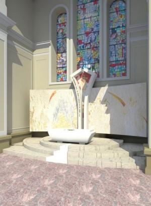 Actual tumba en el Santuario de Zaplaz.