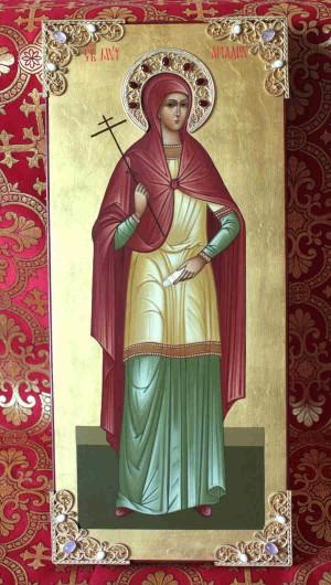 Icono ortodoxo ruso de la Santa.