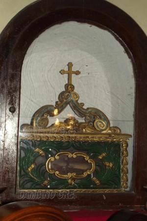 Reliquias de San Liberato, mártir romano, y compañeros extraídos de las catacumbas.
