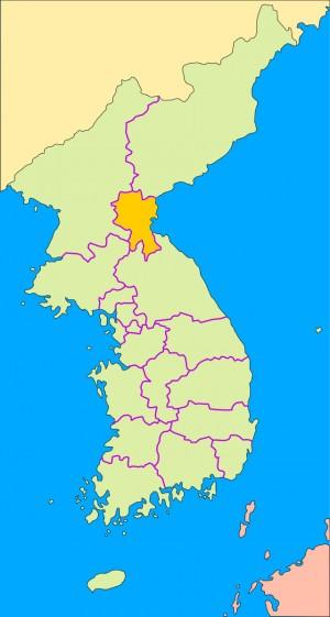 Mapa de ubicación de la abadia de Tokwon.