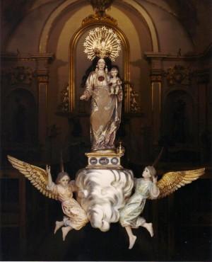 Imagen de la Virgen de la Paciencia, patrona de Oropesa del Mar, Castellón (España).