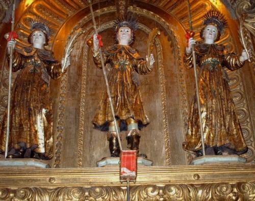 Esculturas de los Santos (s.XVII). Convento de Santos-o-Novo, Lisboa (Portugal).
