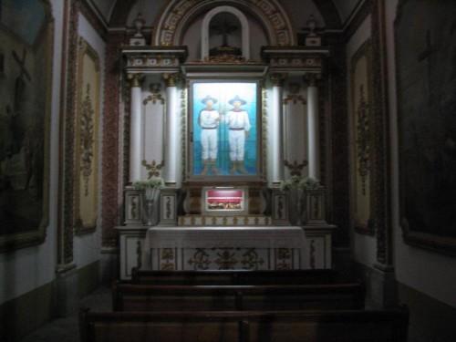 Sepulcro en la catedral de Oaxaca, México.