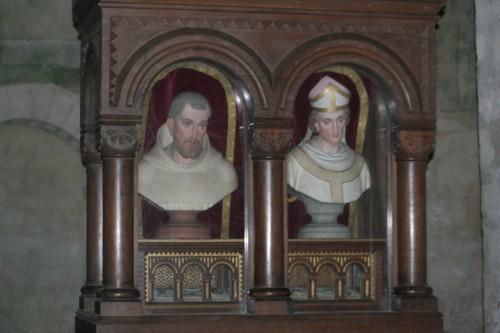 Relicarios de San Malaquías y San Bernardo en Vignory (Francia).