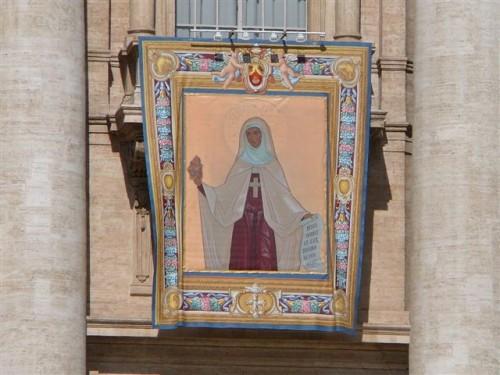 Tapiz de la canonización de Santa María Eugenia de Jesús Milleret.