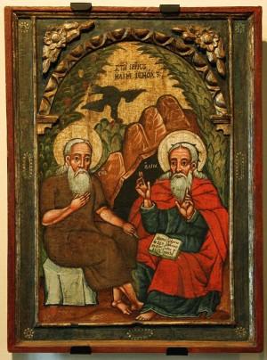 Elías y Enoc. Icono del siglo XVII que se encuentra en el Museo de Historia de Sanok, en Polonia.