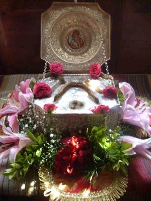 Reliquias del Santo en su tierra natal.