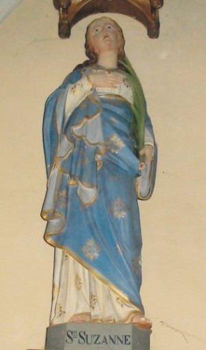 Imagen de Santa Susana. Iglesia de Santa Libaria de Afflacourt, Francia.