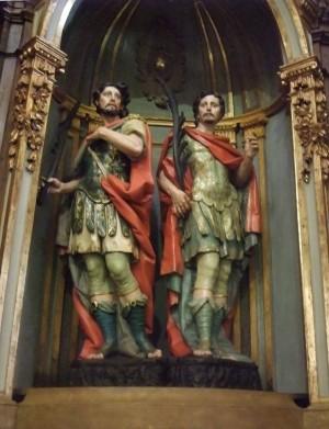 Conjunto escultórico de los Santos. Iglesia de San Nicolás, Bilbao (España).