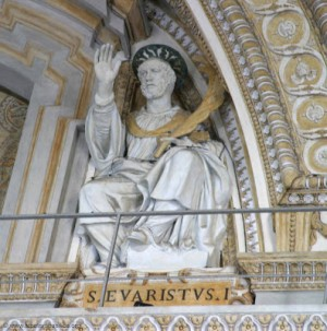 Escultura del Santo en la Basílica de San Pedro del Vaticano, Roma (Italia).