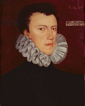 Retrato del Santo a los 18 años, obra de George Gower.