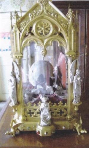 Urna actual de las reliquias de Santa Libaria. Iglesia de la Santa en Grand, Francia.