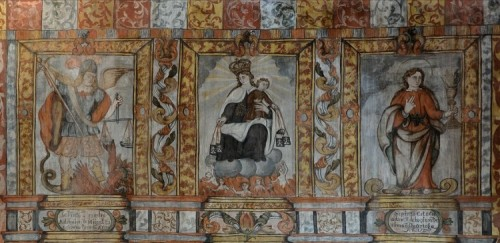 Retablo de la Virgen del Carmen en la ermita. Fuente: www.cofrade.sevilla.abc.es