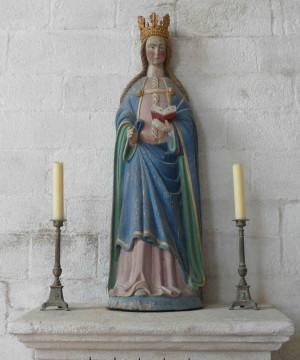 Imagen de Santa Avia en su ermita de Plaenerec, Aulray (Francia).