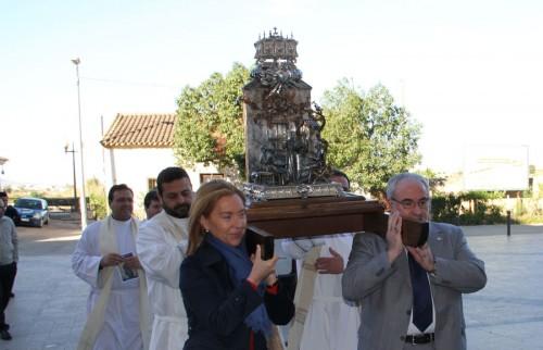 Procesión con el relicario del corazón del Santo. Montilla (España).