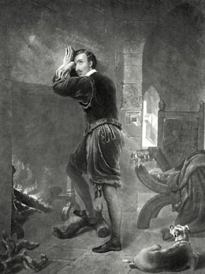 El Santo prisionero en la Torre de Londres. Ilustración romántica de William Barraud.
