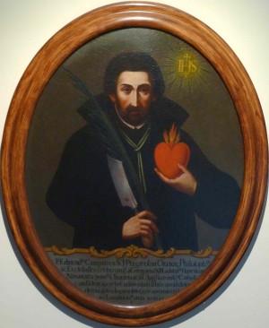 Cuadro del Santo en el Salón de los Campeones de Oxford, Reino Unido.
