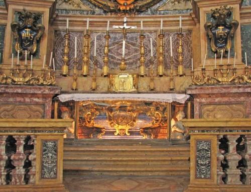 Sepulcro del Santo. Iglesia de San Ignacio de Loyola al Campo Marzio, Roma (Italia).