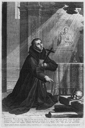 Grabado del Santo, obra de Boetius Adams Bolswert (1580 - 1633). Philadelphia Museum of Art, EEUU.