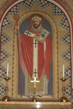 San Eugenio, obispo transalpino. Concorezzo, Italia.