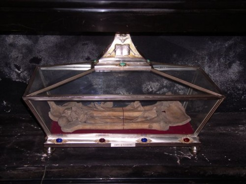 Reliquias del Santo. Basílica de San Eustorgio, Milán (Italia).