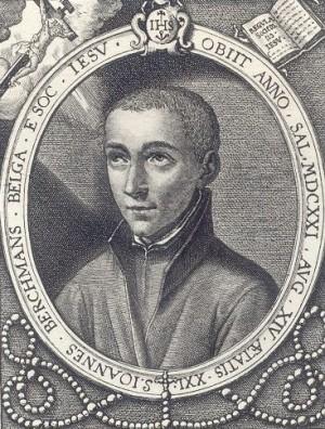 "Grabado del Santo, obra de Alfred Hamy, en ""Galerie illustrée de portraits"" S.J., 1893."