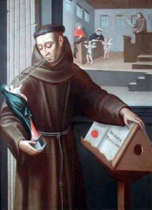 El Beato Juan Duns Scoto defiende a la Inmaculada Concepción.