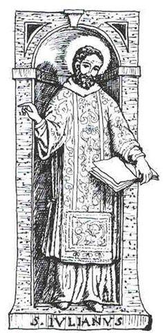 Estampa devocional de San Julián, apóstol del Alto Novarese.