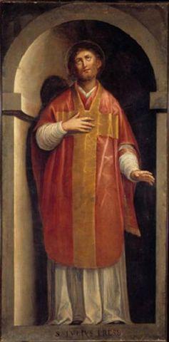 Fresco de San Julio, presbítero. Iglesia de Santa María Anunciata, Milán (Italia).