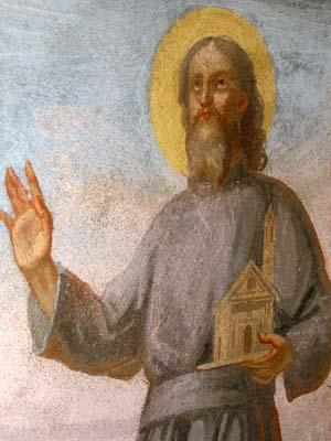 Fresco de San Julio en Val Ossola, Italia.