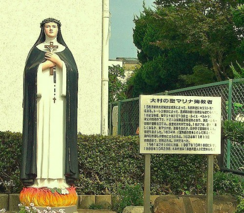 Representación errónea de la Santa como monja dominica. Iglesia católica de Kakomachi, Omura (Japón).