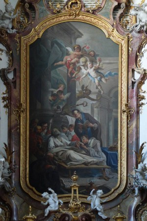 Muerte del Santo. Altar en la basílica de Ottobeuren, Alemania.