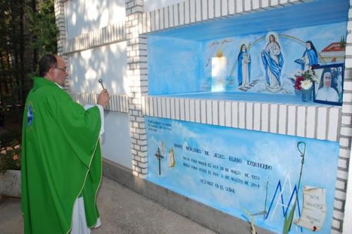 Sepulcro de la Sierva de Dios. Agosto 2014.