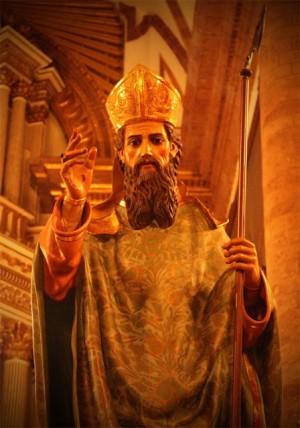 Imagen del Santo venerado en su catedral de Zamora, Michoacán (México).