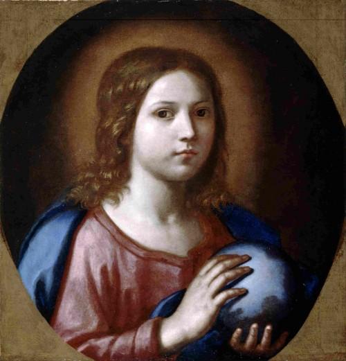 """Salvator Mundi"". Lienzo de escuela barroca florentina."