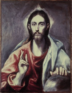"""""""Salvator Mundi"""", lienzo de Domenikos Theotokopoulos """"El Greco"""" (1600). Galería Nacional de Escocia, Edimburgo, Reino Unido."""