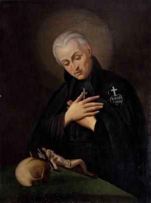 Óleo realizado en base a un retrato del santo hecho por Sebastiano Conca (siglo XVIII), el cual se conserva en la iglesia de los Pasionistas de Itri (Latina).