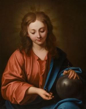 """Salvator Mundi"", lienzo atribuido a Jean de Boulogne."