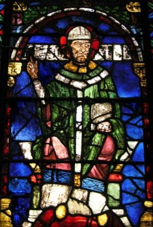 Vidriera del Santo en la catedral de Canterbury, Reino Unido.