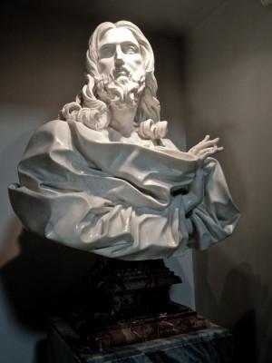 """""""Salvator Mundi"""", busto del escultor barroco Gian Lorenzo Bernini."""