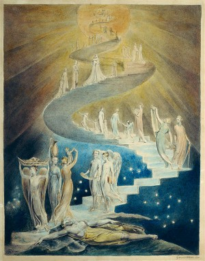 La visión de la escala de Jacon. Ilustración de William Blake. British Museum, Londres (Reino Unido).