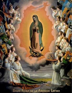 """Gonzalo Carrasco, óleo/tela, """"Salve Reina de la América Latina"""", 1930, Museo de la Basílica de Guadalupe."""