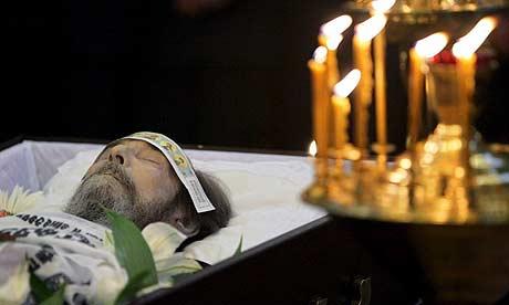 Detalle de un funeral ortodoxo.